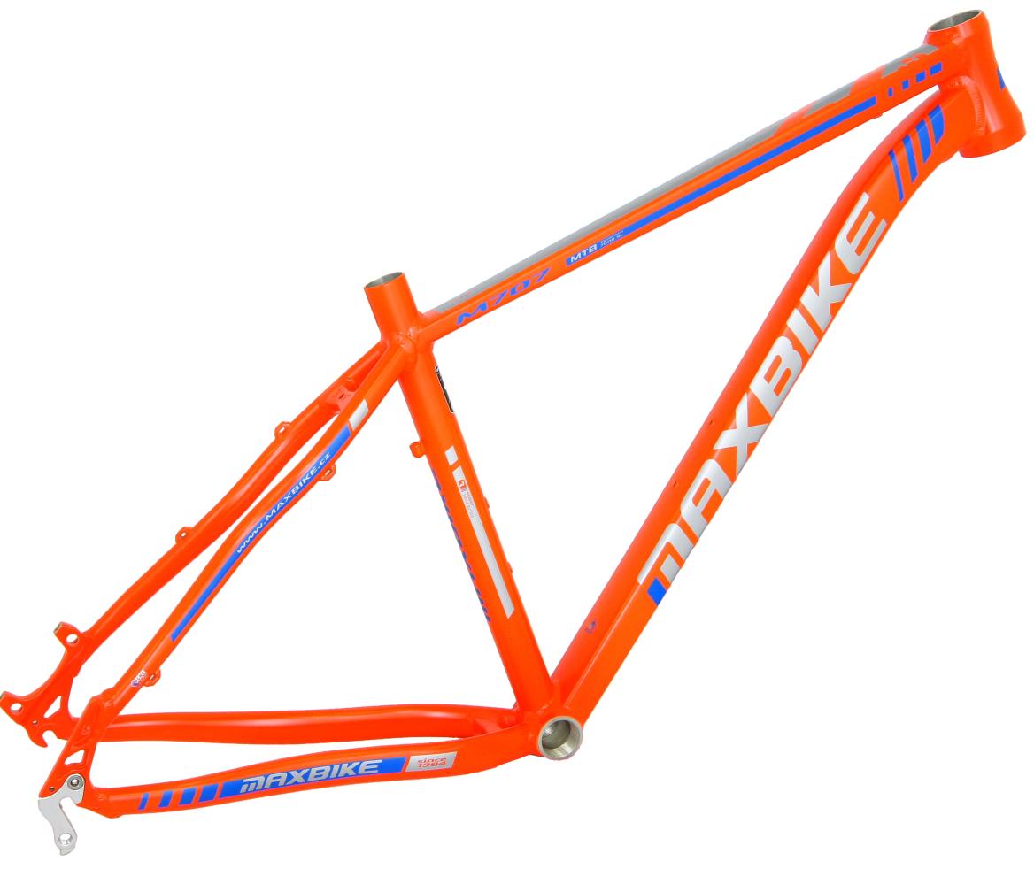 "rám Maxbike M707 2018 19"" oranžový mat + modrá"