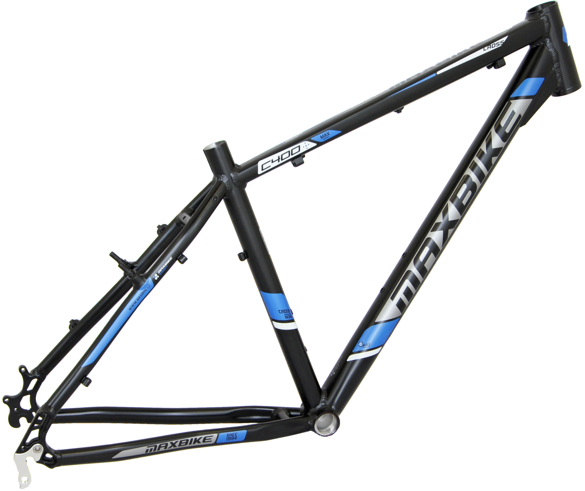 "rám Maxbike C400 16"" černý mat + modrá"