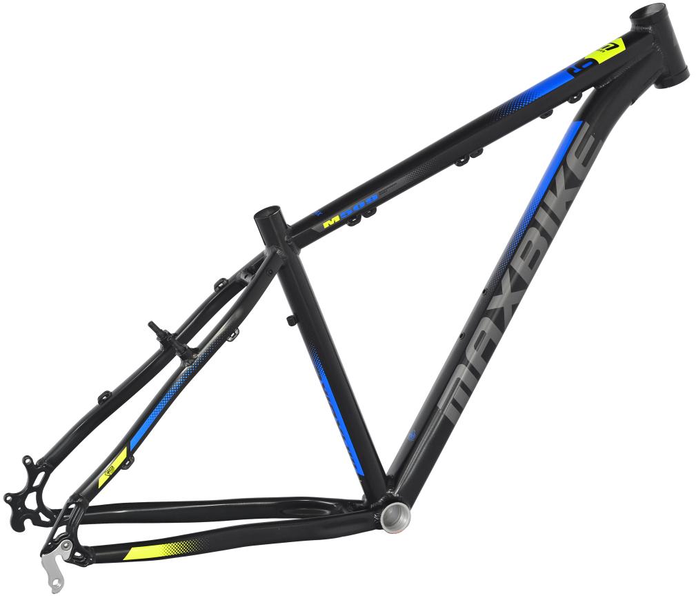 """rám Maxbike M507 19"""" černý matný + modro-žlutá"""