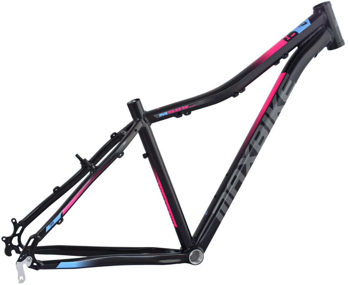 """rám Maxbike M506-D 17"""" černý matný + růžovo-modrá"""