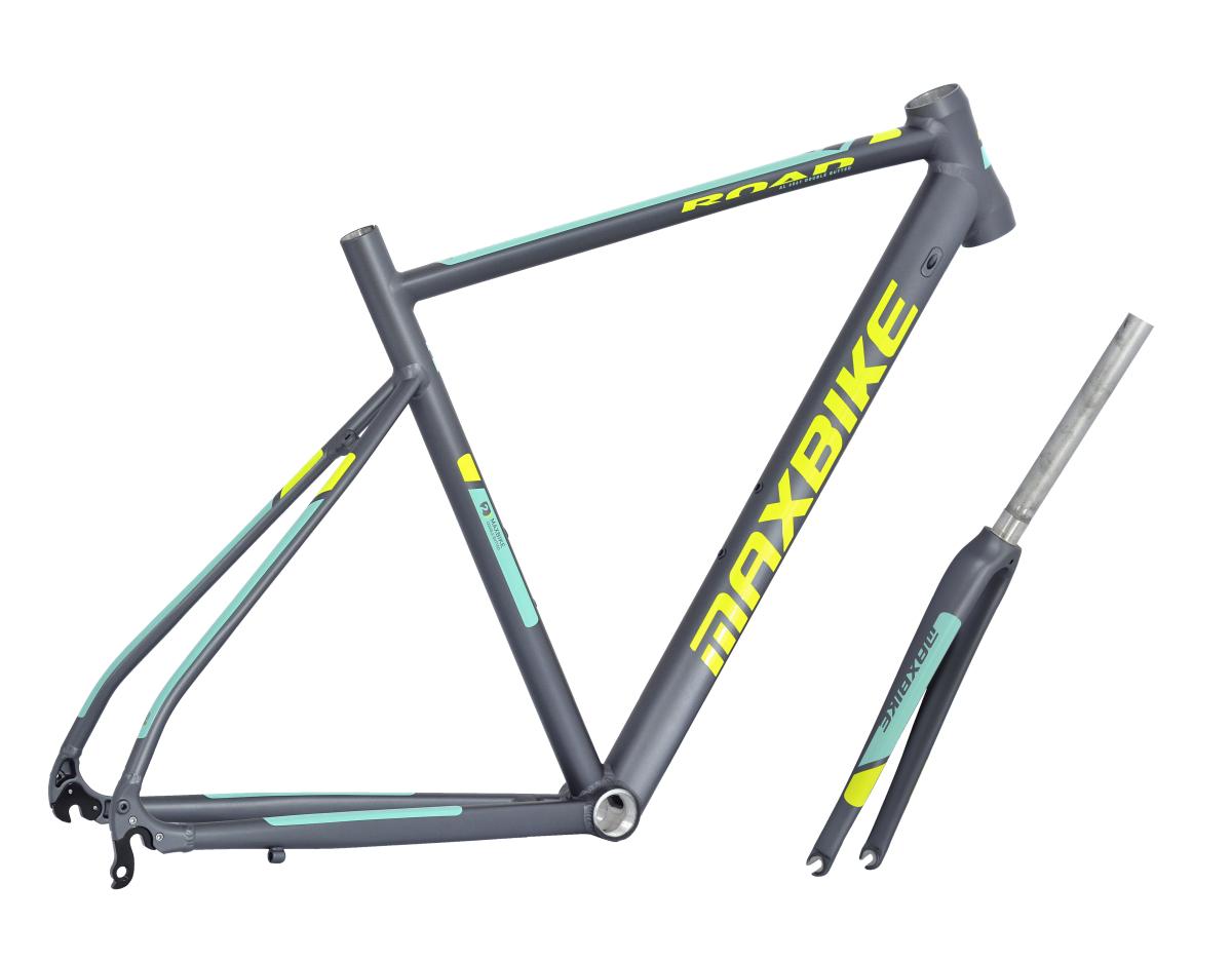 rámový set Maxbike Road 540mm + vidlice Carbon šedý