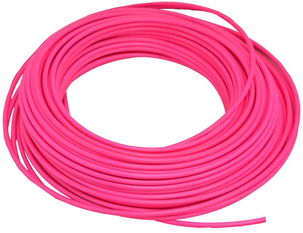 bowden brzdový 1m reflexní růžový