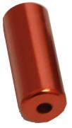 koncovka bowdenu 5mm Al - červená 100ks