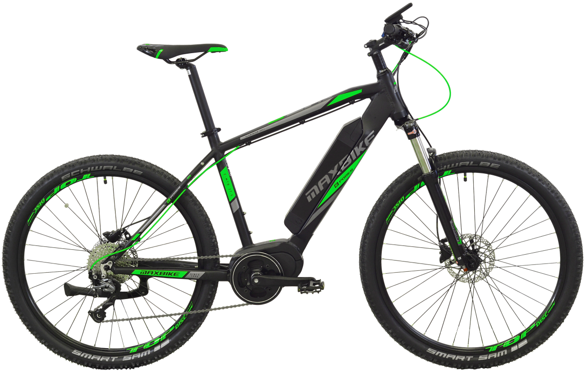 "Elektrokolo Maxbike E - Malawi 29 19"" černý mat + zelená"